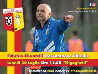 Mister Fabrizio Ciucarelli, presentazione lunedì 20 luglio al Migaghelli