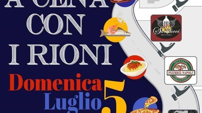 A Cena con i Rioni, Confcommercio Assisi promuove l'iniziativa