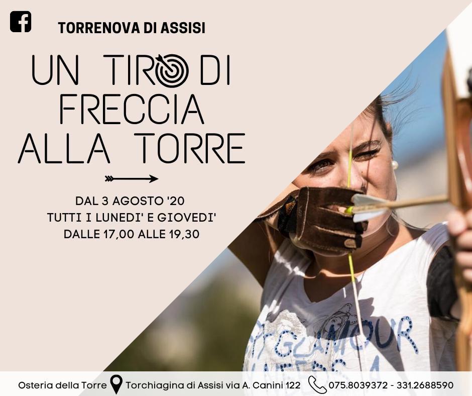 Un tiro di freccia alla Torre al parco Torrenova a Torchiagina