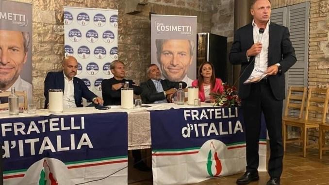 Francesco Lollobrigida, Fdi, ad Assisi per sostenere Marco Cosimetti