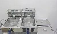 ダイシン 業務用 2槽式 卓上フライヤー FL-D55W