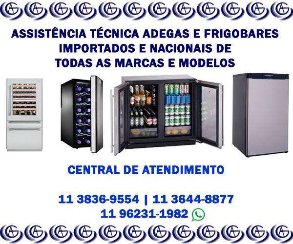 assistência técnica adega e frigobar importados e nacionais