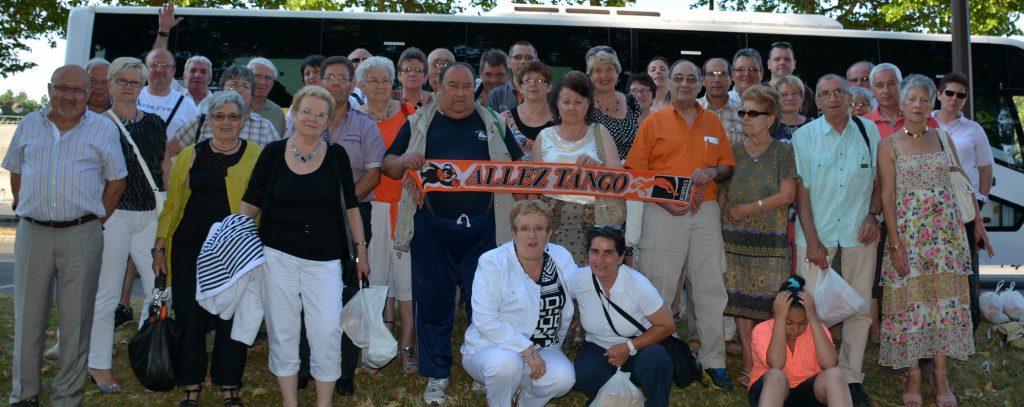 Corinne et les supporters en 2014