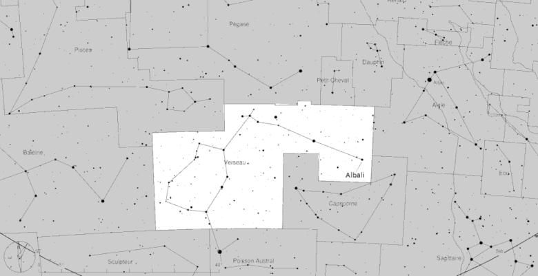 Albali dans la constellation du Verseau
