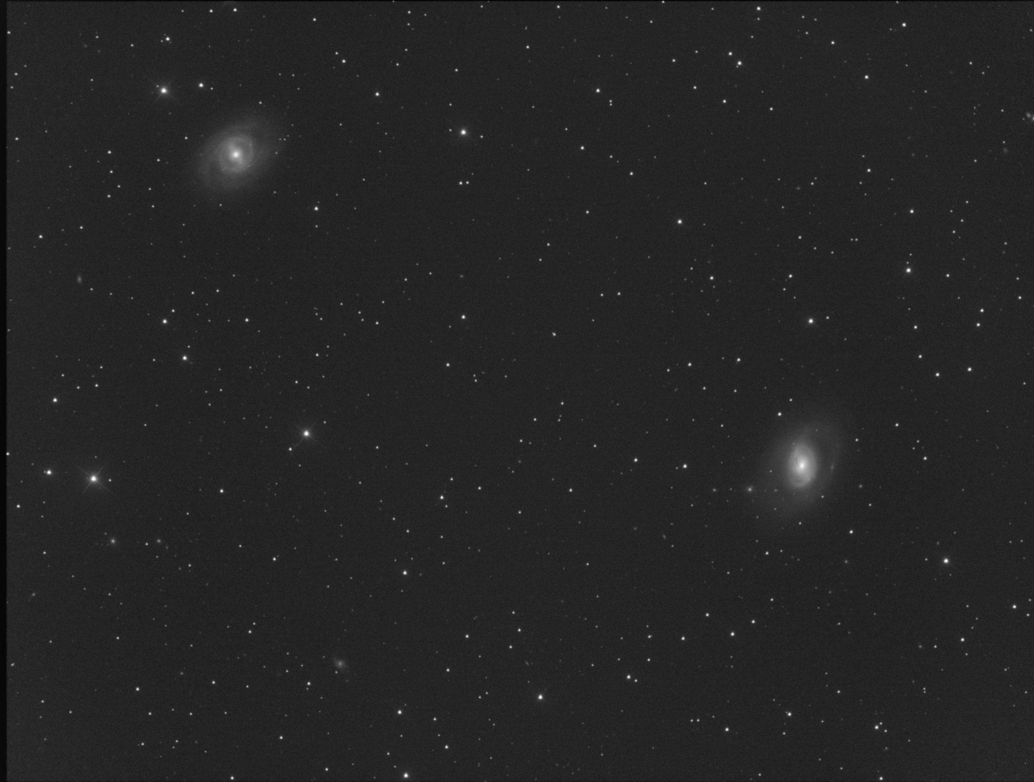 Messier 95 (en haut à gauche et M 96