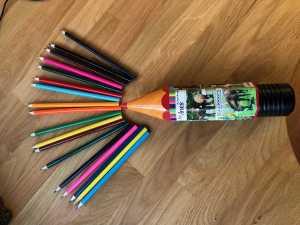 Trousse, crayons de couleur