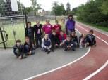 Camp Super-Sympa 2014 - Photo de groupe sur le terrain multisport de Cormatin