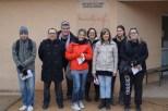 Les animateurs sur le départ du jeu de piste sur le patrimoine de Lugny