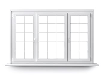 White window isolated on clean white background.
