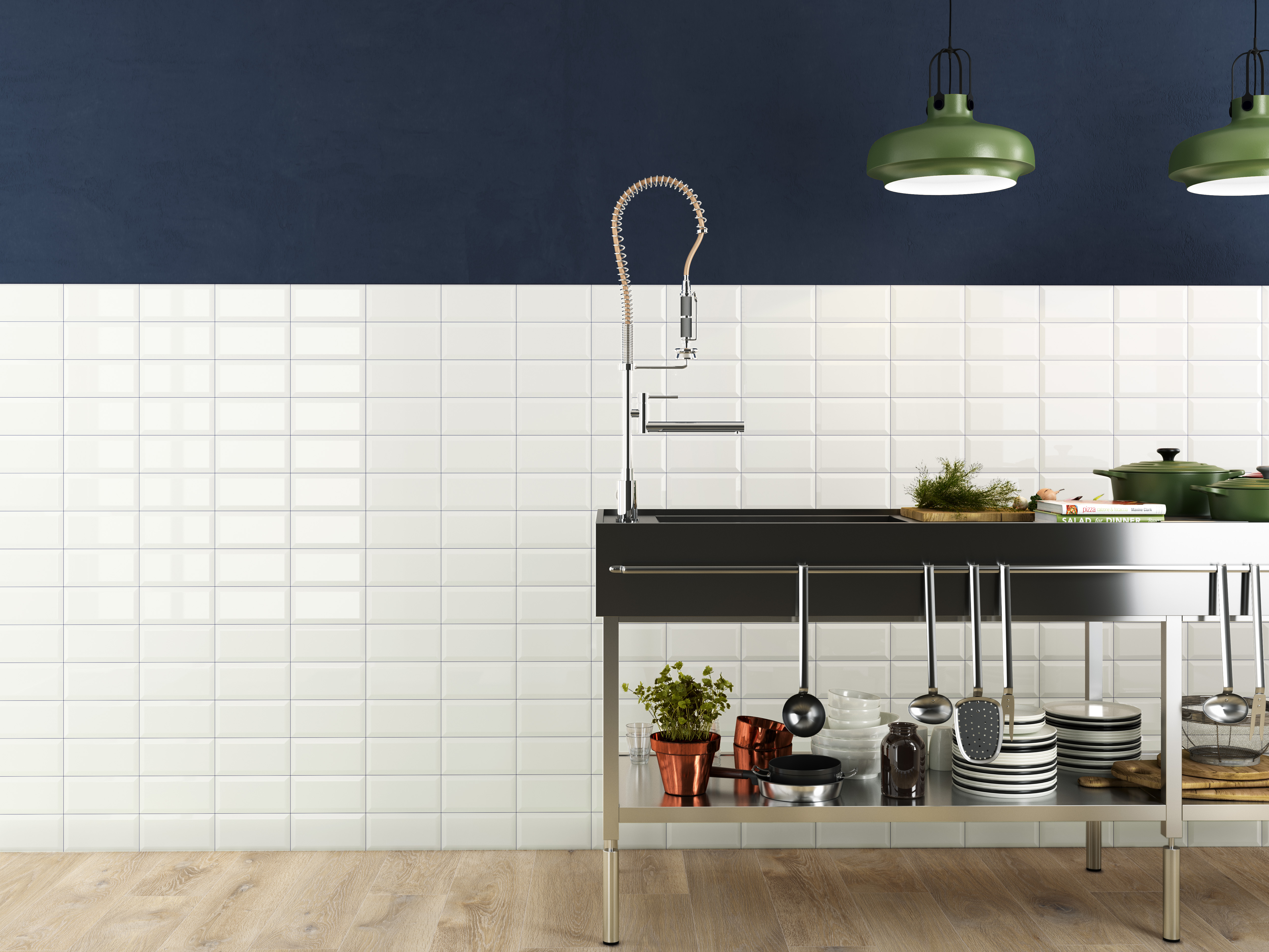 piccadilly white subway kitchen accent wall miami associates tile manufacturing