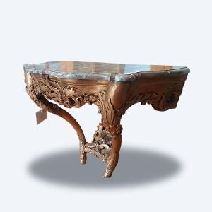 Console régence en bois sculpté et doré