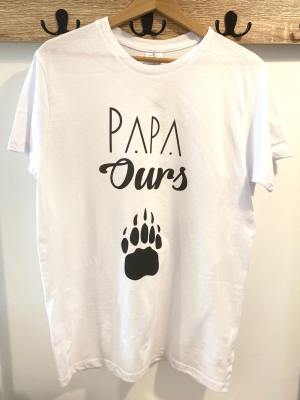 T-shirt Papa ours