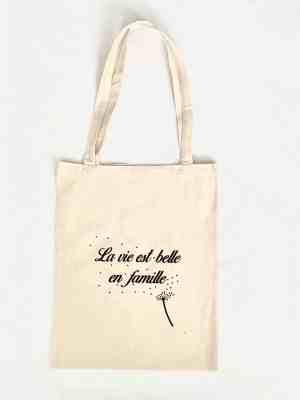 Tote bag : La vie est belle en famille