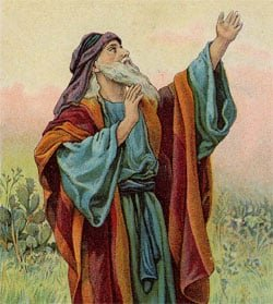 The prophet was  looking forward in time to the coming collapse of the House of Judah, a century into his future.