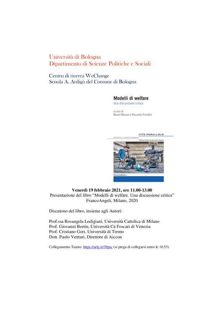 thumbnail of Presentazione Modelli di welfare febbraio 2021