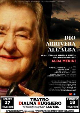 """Per i nostri associati SCONTO sullo spettacolo: """"Dio arriverà all'alba – omaggio ad Alda Merini"""""""
