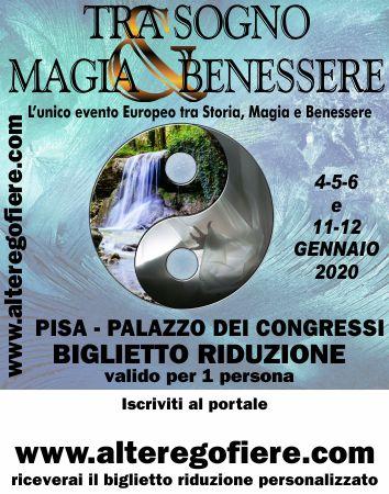 Sabato 4/1/2020 alle fiera esoterica di Pisa, scioglieremo antichi voti e altro…