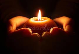 La fiamma della candela parla