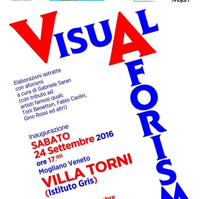 Mostra Visual Aforismi, inaugurazione Sabato 24 settembre in Villa Torni