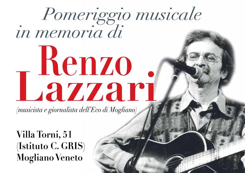 Pomeriggio musicale in memoria di Renzo Lazzari