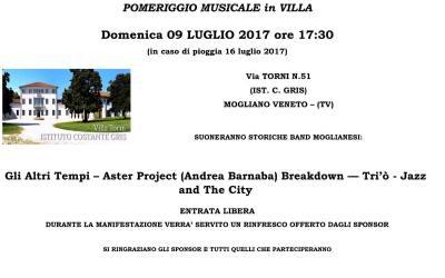 Manifestazione canora gratuita in Villa Torni il 9 Luglio, tutti invitati!