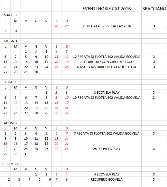 calendario flotta 302 2016