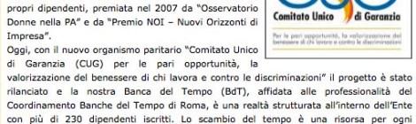 """Dal sito NoiDonne.org """"La Banca del Tempo nella Provincia di Roma"""""""