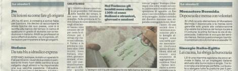 """Da La Repubblica """"Effetto crisi, boom delle banche del tempo"""""""