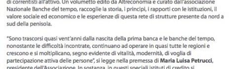 """Dal sito Galileonet.it """"Il tempo è denaro"""""""