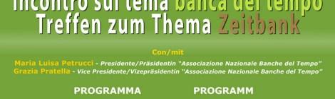 """A Bolzano incontro sul tema """"Banca del Tempo"""""""