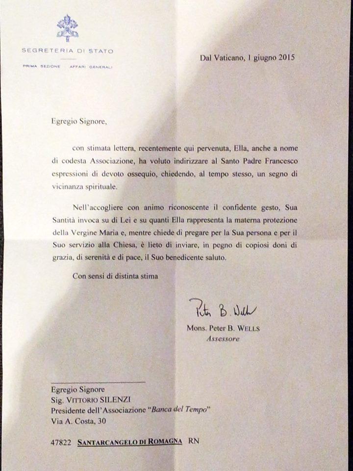 lettera del papa