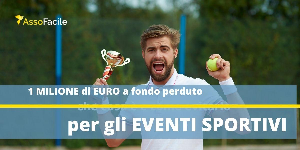 1 milione di EURO a fondo perduto da Regione Lombardia per il sostegno delle manifestazioni sportive