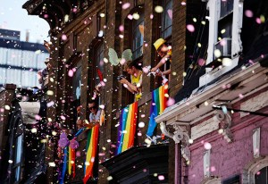 Throwing Confetti During Gay Pride Parade