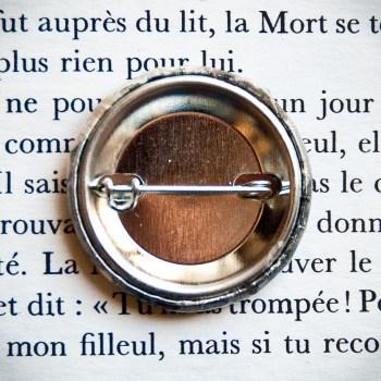 Badge vintage Gente Dame 32mm