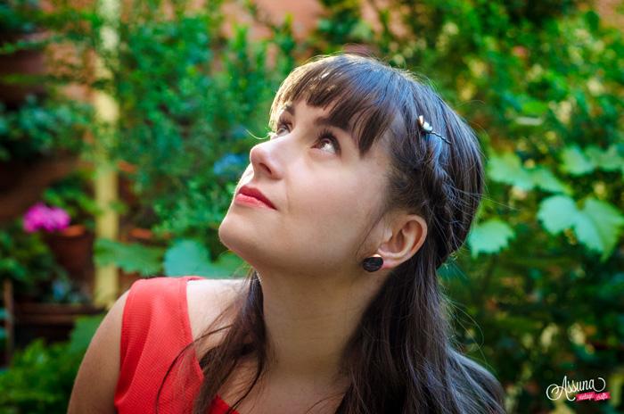 Assuna 2015/2016 - Boucles d'oreilles et barrette boutons anciens - Yvette