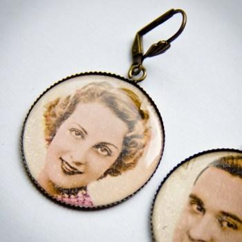 Boucles couple 1940 carte postale