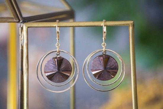 Assuna - Grandes boucles Lunare Angèle - inspiration vintage