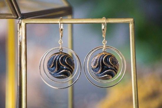 Assuna - Grandes boucles Lunare Siloé - inspiration vintage