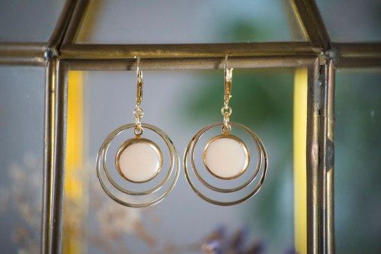 Assuna - Petites boucles Lunare MIreille - inspiration vintage