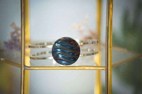 Assuna - Bracelet vintage Simone - bracelet rigide avec un bouton ancien