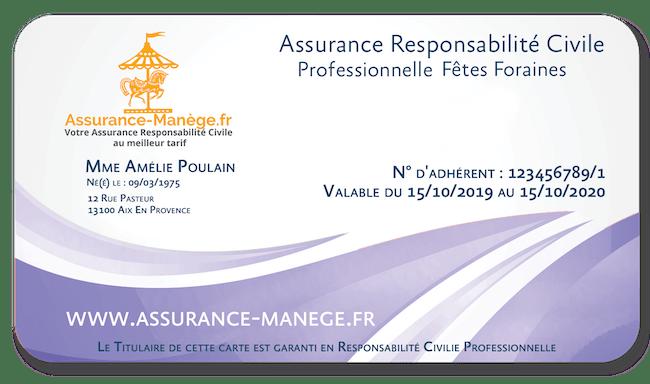 Assurance Responsabilité Civile Pro Fêtes Foraines Manèges Catégorie 2