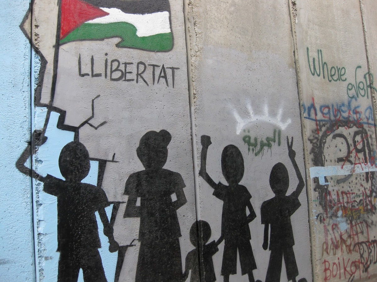 artwork on the Separation Barrier in Bethlehem
