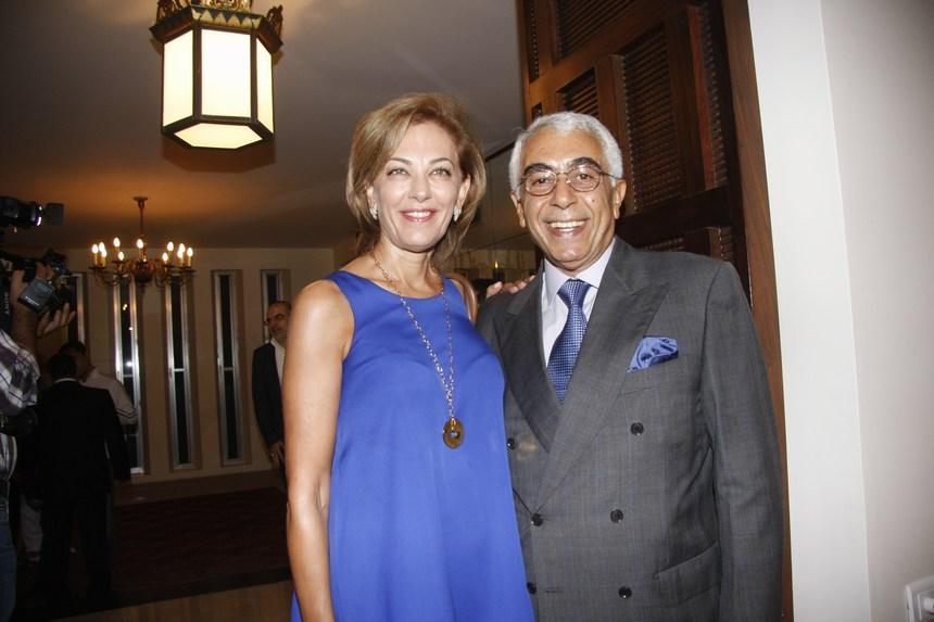 السفير جورج سيام وقرينته غولدا