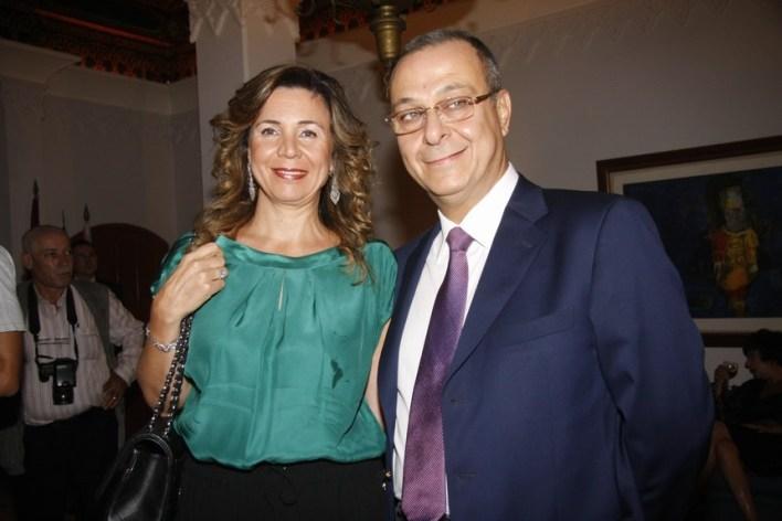 رئيس بلدية حدث بيروت جورج عون وقرينته نجوى