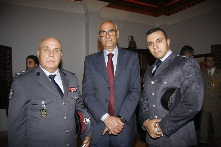 الملازم أول ريمون أبو زيد والعميد عبدو نجيم والعميد أسعد نهرا