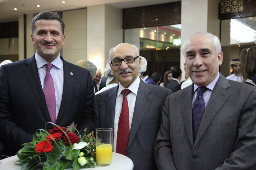 سفير الجزائر عمر أبا، سفير ليبيا محمد الناكوع، السفير القطري يوسف علي الخاطر