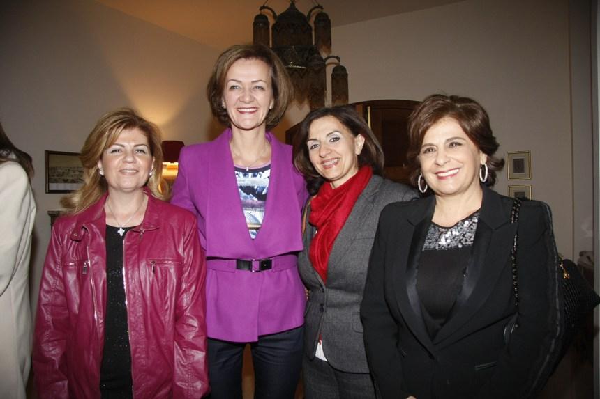 رابيكا أبو ناضر، تريز قسيس أبي صعب، السفيرة أنجلينا إيخهورست، رولا راشد