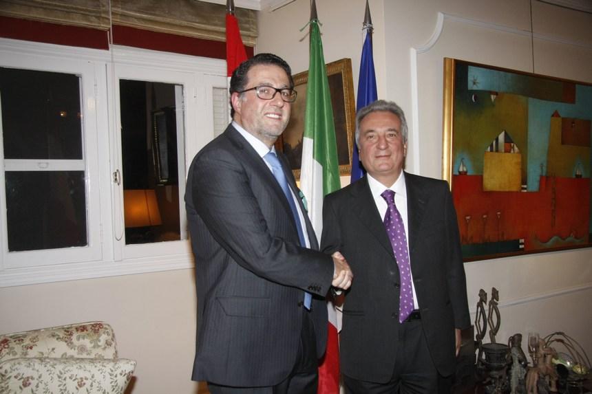 سفير إيطاليا و محمد شقير