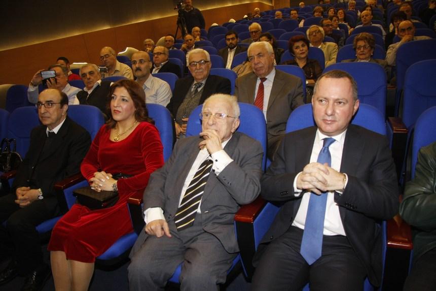 الوزير ريمون عربجي، النقيب السابق محمد البعلبكي وعقيلته سحر، والياس الرحباني