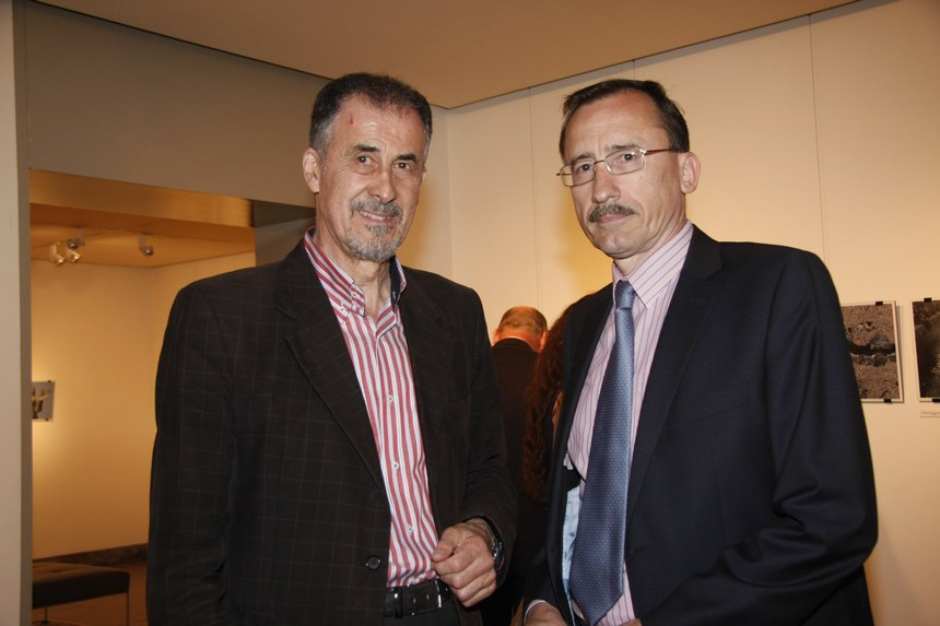 سفير رومانيا فيكتور ميرسيا وبسام لحود